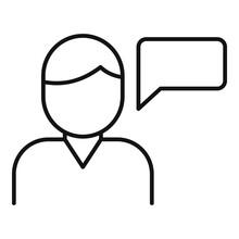 Storyteller Speech Icon. Outli...