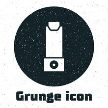Grunge Inhaler Icon Isolated O...