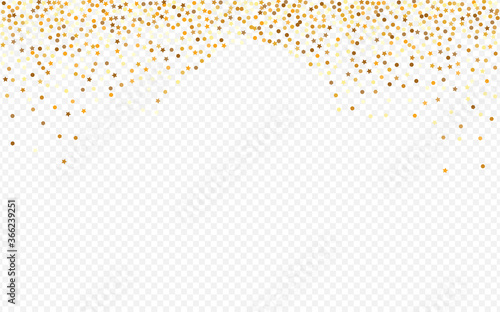 Golden Dot Golden Transparent Background. Modern