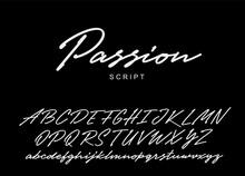 Passion Script Design. Vector Alphabet.
