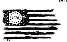Betsy Ross 1776 13 Stars Distressed US Flag. Only Commercial Use