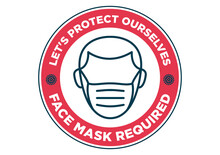 Face Mask Required Sign Against Covid-19