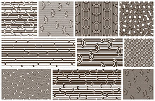 Lined Seamless Vector Patterns...