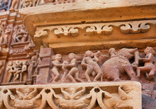 Khajuraho Sculptures And Pater...
