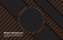 Illustration Vector Graphic Of Abstract Background Black And Brown Color Modern Design