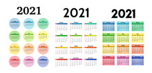 Calendar For 2021 Isolated On ...
