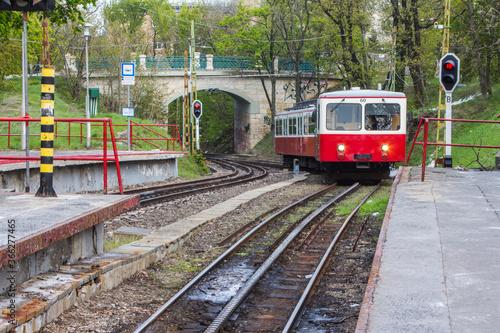 Unique Budapest Cog-wheel Railway. Hungary Canvas
