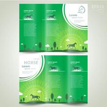 Horse Grassland Theme Green Co...