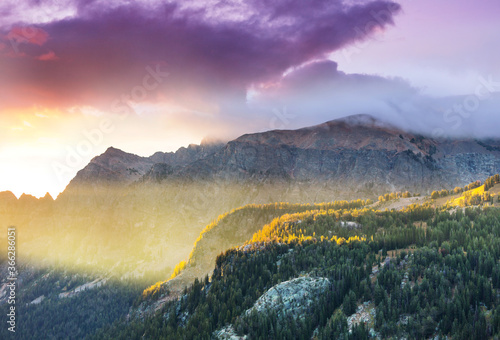 Mountains on sunrise
