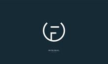 Alphabet Letter Icon Logo UF Or FU