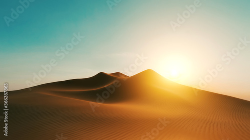 desert dune sunset background