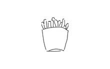 アナログ手書き風のゆるいタッチのアイコン:ポテト