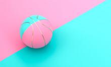 Blue And Pink Basketball Ball ...