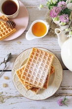 Belgian Waffles And Honey, Cup...