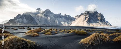 Canvas Print Sunny landscape of Iceland