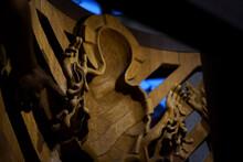 Wooden Jesus Art In A Church