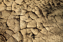 Sun Baked Mud In A Dry Riverbe...
