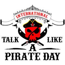 International Talk Like A Pirate Day. Vector Illustration.