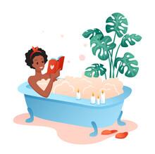 Bath Time Flat Vector Illustra...