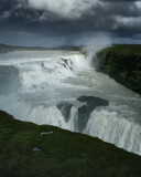 Gullfoss waterfall in South Iceland. Beautiful nature landscape