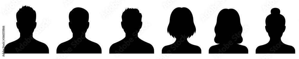 Fototapeta Avatar icon. Profile icons set. Male and female avatars. Vector