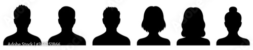 Fototapeta Avatar icon. Profile icons set. Male and female avatars. Vector obraz