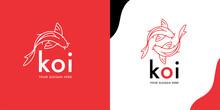 Modern Koi Fish Logo Template ...