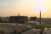 Setting Sun In The Ruins Of Ha...