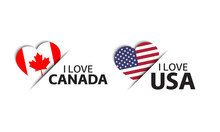 Set Of Two Canadian And United...