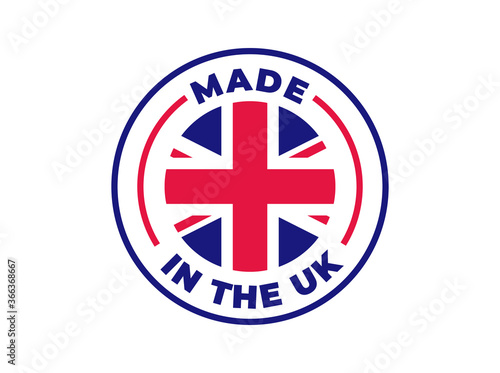 """Stampa su Tela """"Made in the UK"""" vector icon"""