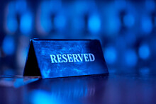 Reserved Plate On Night Club, ...