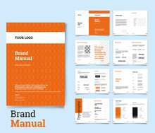 Brand Identity Guideline Template Brand Style Guide Brochure Layout Brand Book Brand Manual