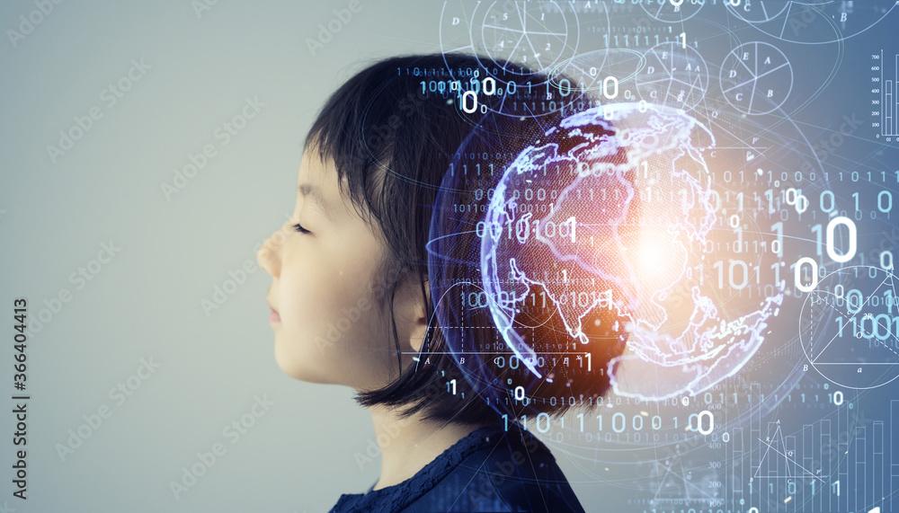Fototapeta 科学イメージ 子どもと成長 イマジネーション EdTech