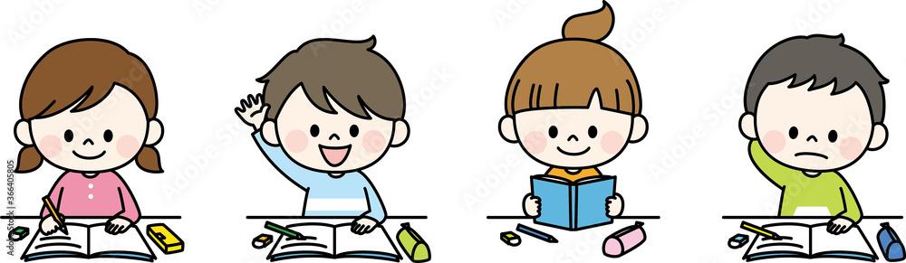 Fototapeta 授業を受ける子ども
