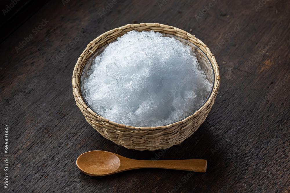 Fototapeta かき氷 Simple Asian style cold shaved ice