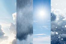 The Changes Of Weather. A Natural Phenomenon Of The Differences Of Four Seasons