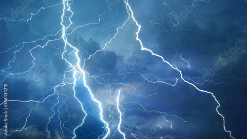 Fototapeta Lightning in the sky obraz