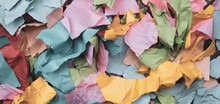 Torn And Crumpled Color Paper...