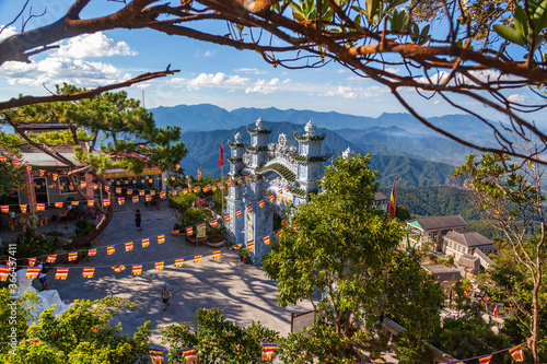 The French village on the top of Ba Na mountain,