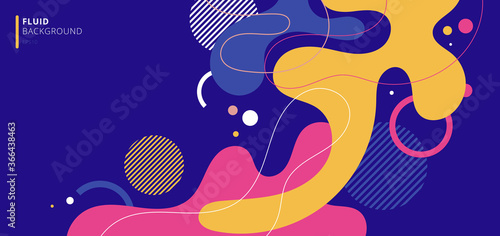 Abstract modern background elements dynamic fluid shapes compositions of colored Fototapeta