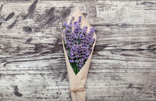 Bouquet Of Lavender In Paper P...