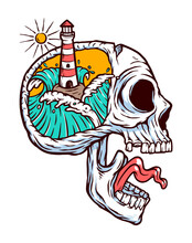 Lighthouse In My Mind Vector I...