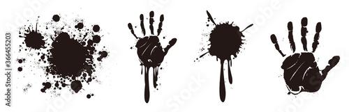 Fotografie, Tablou blood splatter splash drop paint
