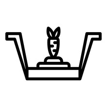 Carrot Animal Trap Icon. Outli...