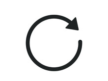 Replay Icon. Circle With Row V...