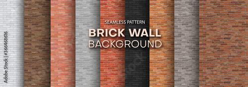 Fotografering Set of brick walls of different colors