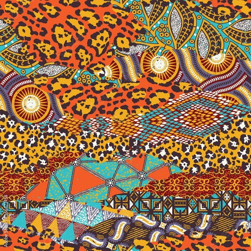 Tapety kolonialne  tradycyjna-afrykanska-tkanina-i-dzikie-skory-zwierzat-wektor-wzor