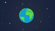 4k Cartoon Globe Illustration ...