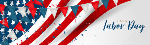 Stampa su Tela Labor Day banner or header