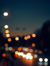 Defocused Lights In The City
